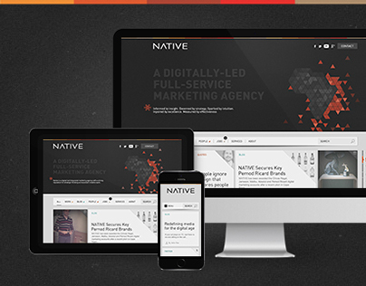 Redesign of a digital agencys website