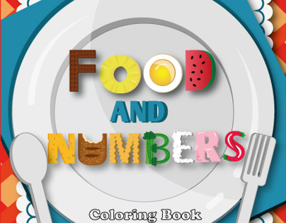 Food And Numbers Coloring Book