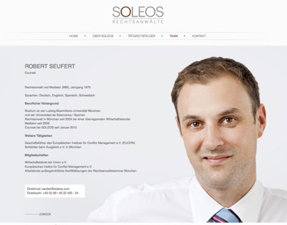 Website SOLEOS