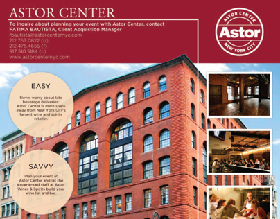 Astor Center Advertisements for BizBash