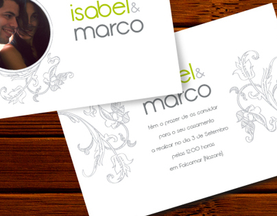 Marco & Isabel (Wedding Invitation)
