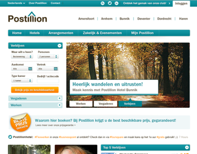 Postillion Hotels Corporate Website Re-design