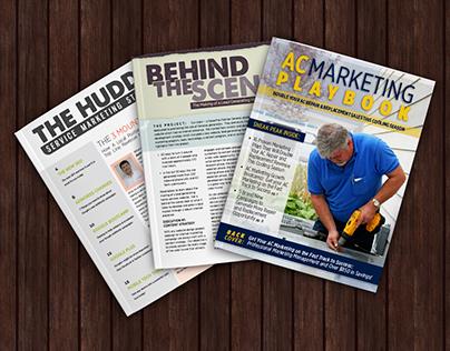 Service Inbound: Various Newsletter Designs