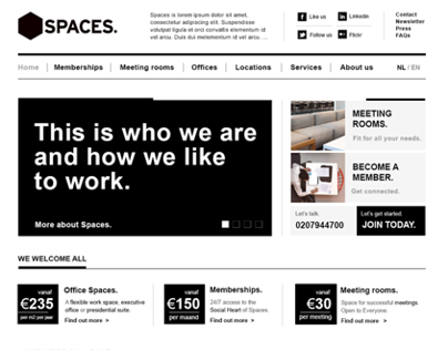 Spaces Brand & Website Re-Design