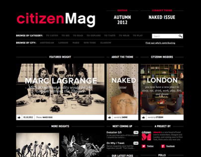 Online Lifestyle Magazine for citizenM
