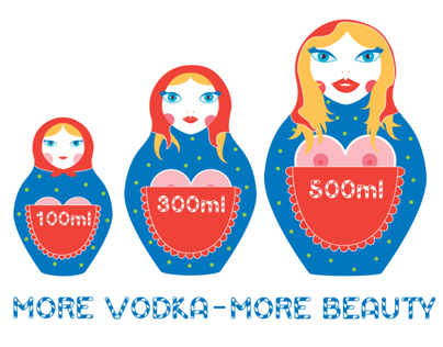 MORE VODKA PRINT