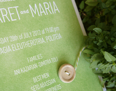 Invitation / Green summer wedding