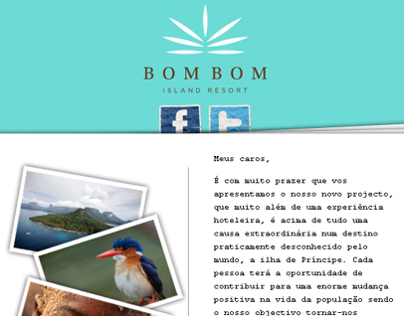 Bom Bom Island Resort (Newsletter Design)