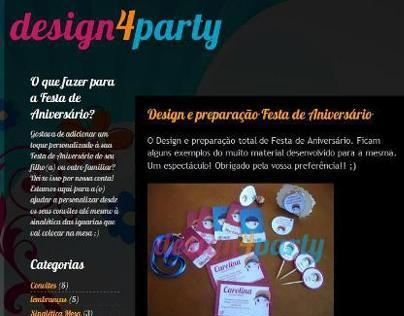 Blog e Logótipo - Design4Party