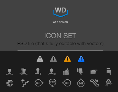 Icon Set / PSD file (thats fully editable)