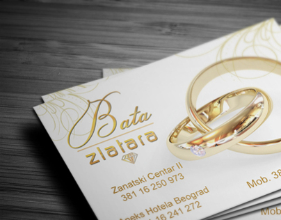 Business card design for Jewelry store