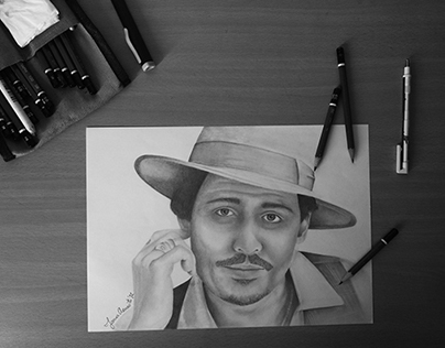 Johnny Depp Graphite Portrait