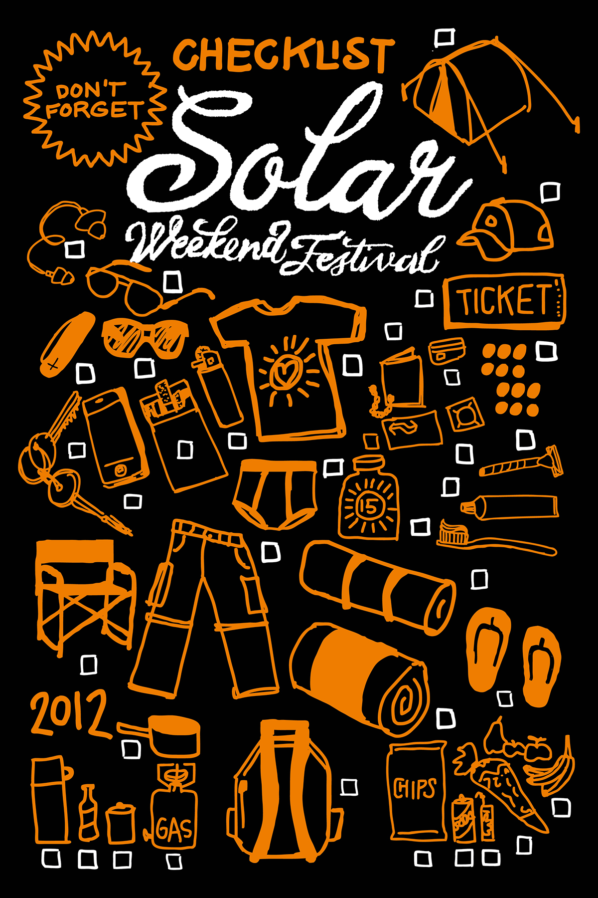 Solar Weekend Festival T-shirt