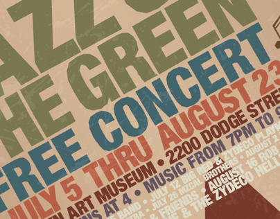 Jazz on the Green Poster and Billboard