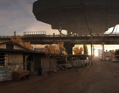 District 9 Matte Painting