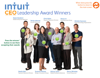 Intuits CEO Leadership Award Winners iPad Application
