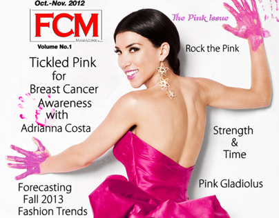 TV host Adrianna Costa for FCM magazine