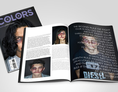 Fight Club Magazine Spread
