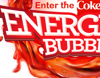COKE Energizer bubble visual drawing