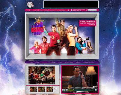 WebSite Big Bang Theory / Warner Channel / Merlin