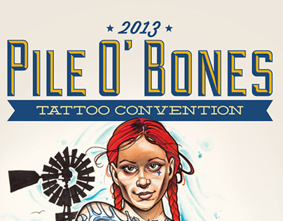 Pil O' Bones Tattoo Convention Poster