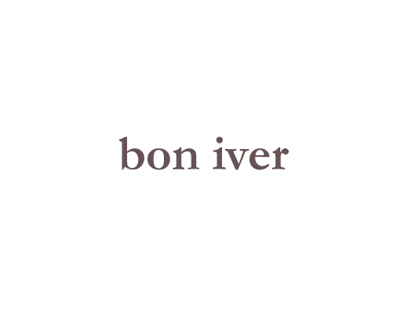 Bon Iver - cover and lyricsbook