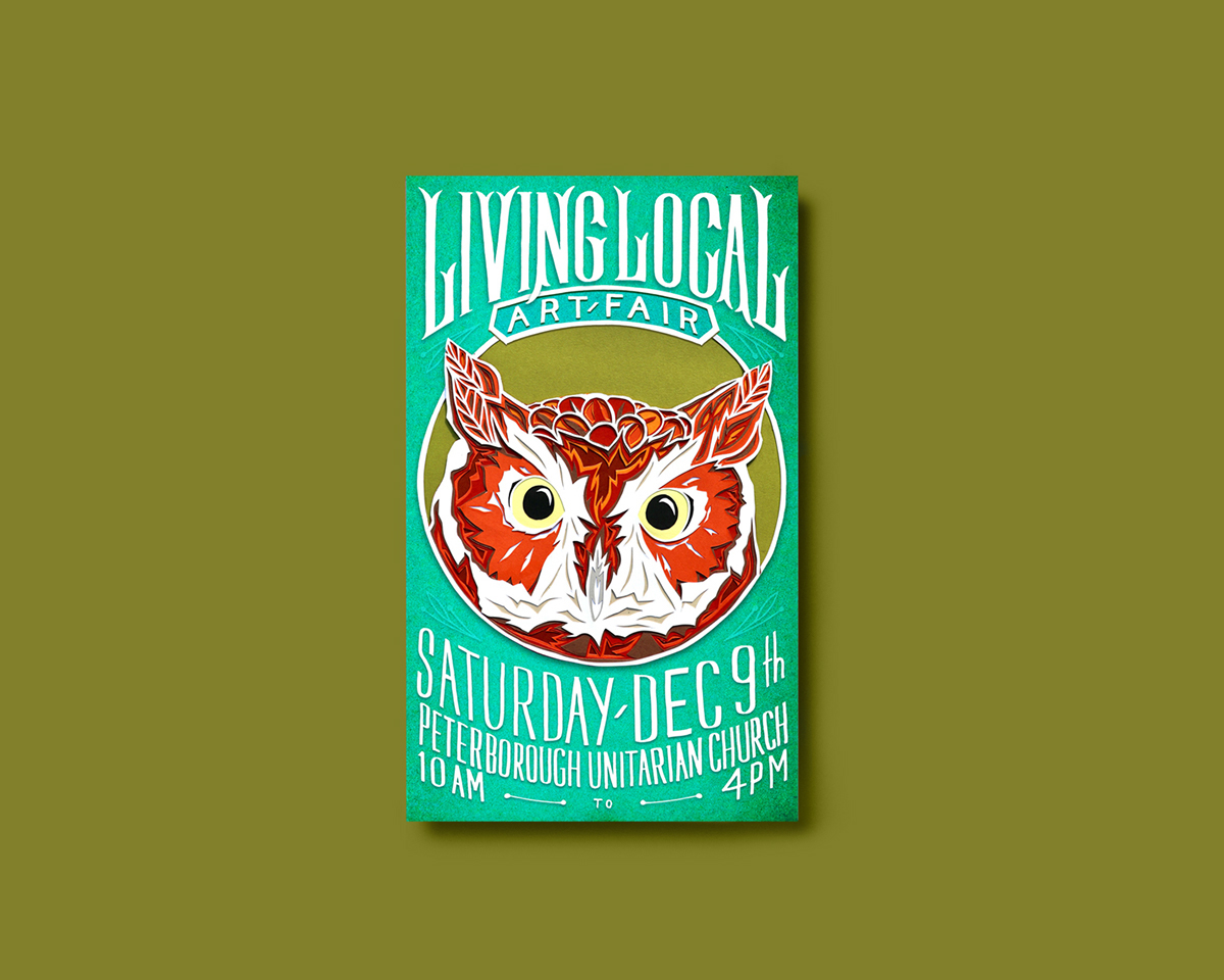 Living Local Art Fair, Poster