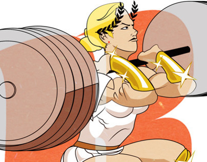 Pantheon Games editorial Illustrations ( Crossfit Gods)