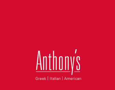 Anthonys Restaurant Menu
