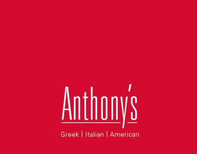 Anthonys Restaurant Menu