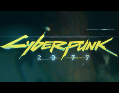 Cyberpunk 2077 - Logotype Design and Ident Animation