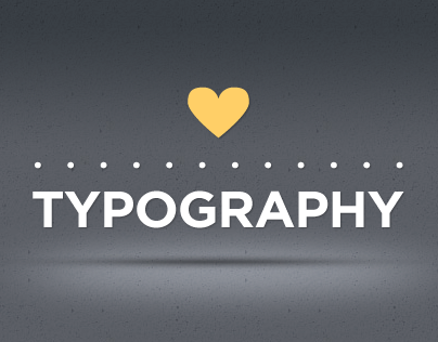 loves typography ♥