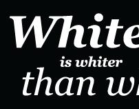 White is whiter than white