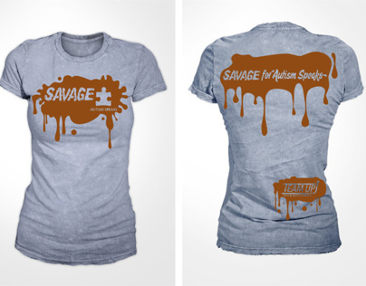 Savage Race Tshirt Design