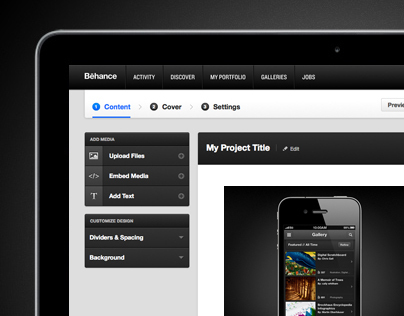 Behance Project Uploader