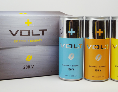 VOLT Coffee + Energy Drink Packaging
