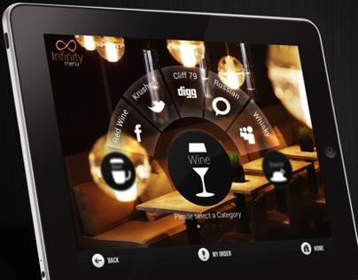 Infinity Menu App for iPad