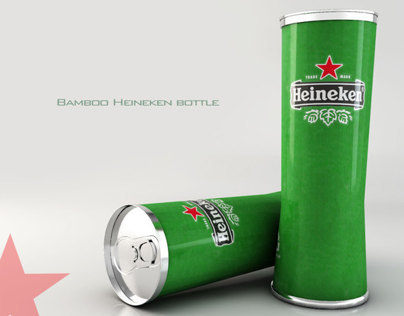 Bamboo Heineken Bottle