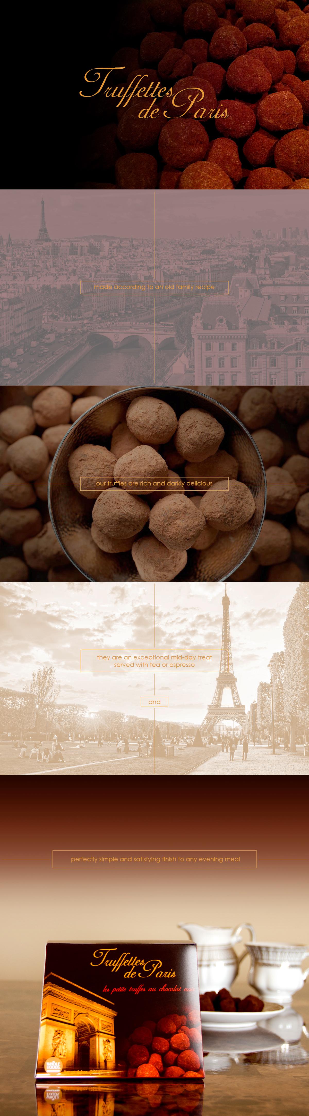 Truffettes de Paris package design