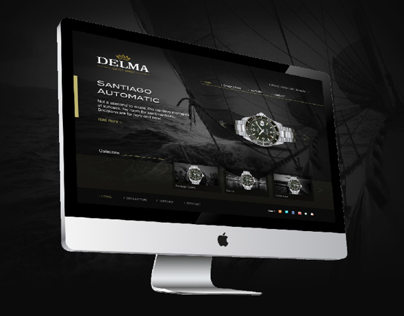 Delma Watch web design