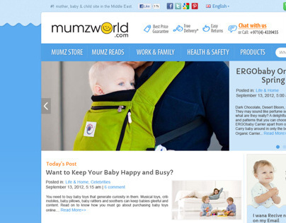 Mumzworld Blog Design