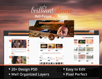 Brilliant Theme Creative Unique PSD Theme