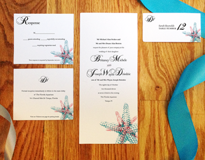 Wedding Invitations - Joe and Britaney