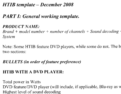Circuit City HTIB product copy template