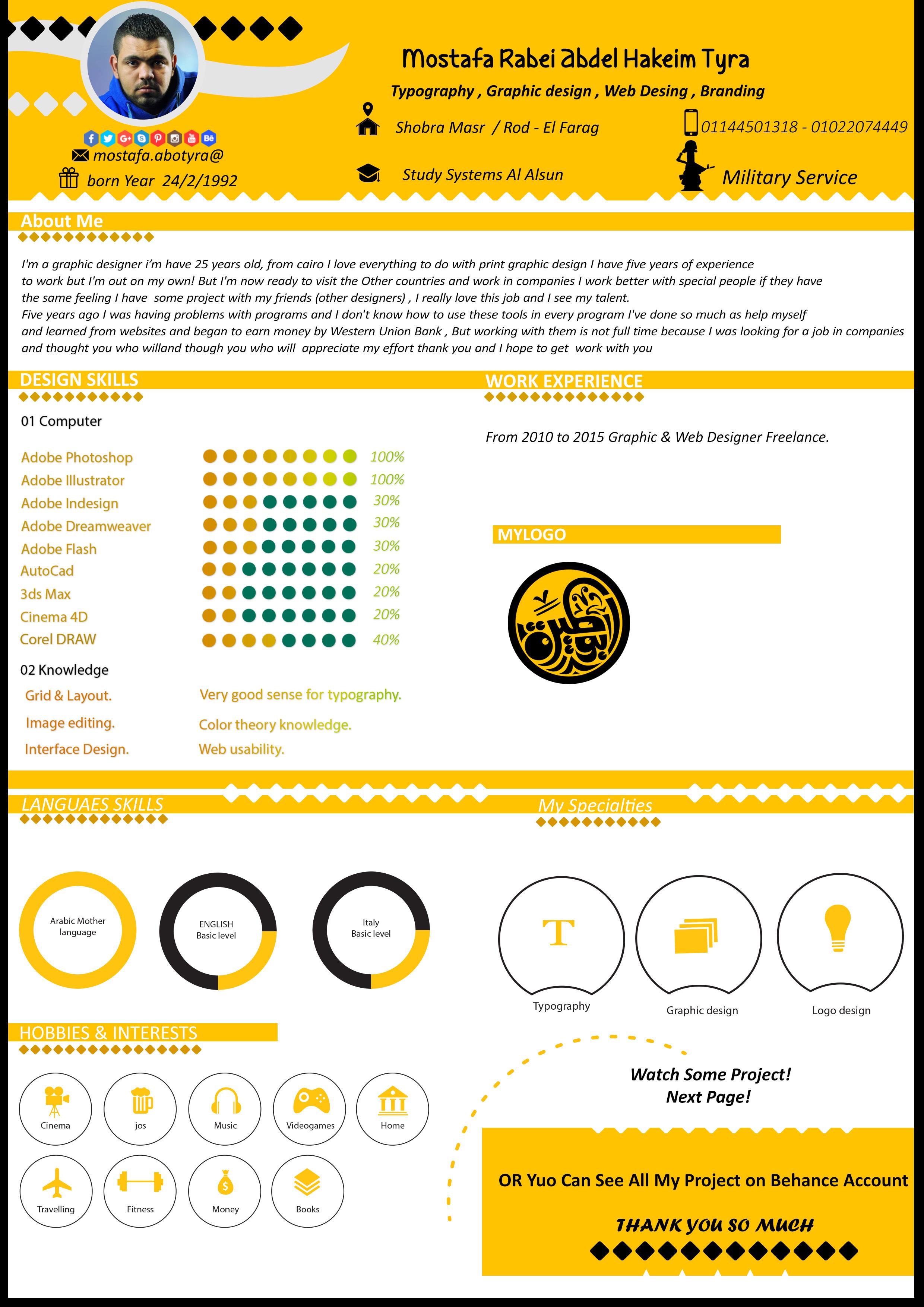 Infographic Resume - Cv Abotyra