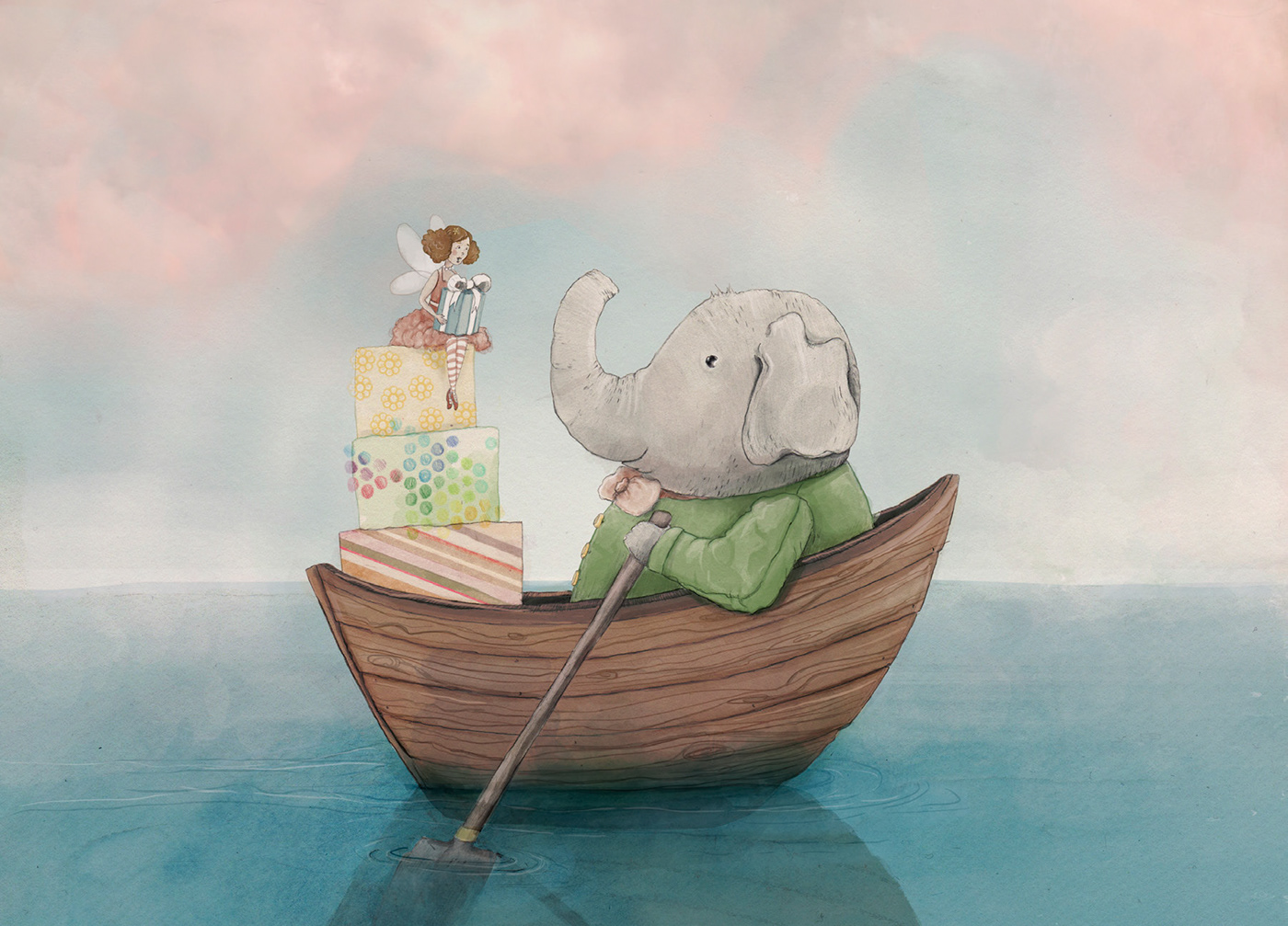 Elephant and Fairy - Christening Gift