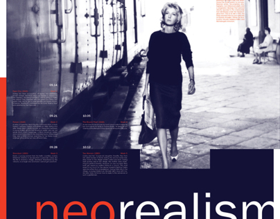 Neorealism Film Poster