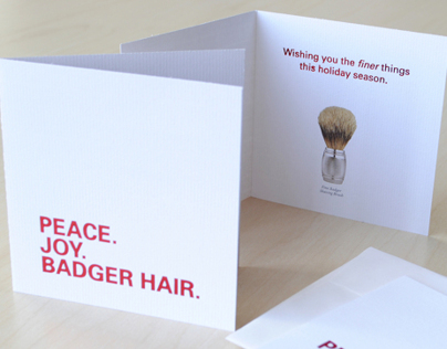 The Art of Shaving Holiday Card