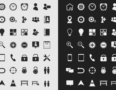 Simple Light & Dark UI Icons
