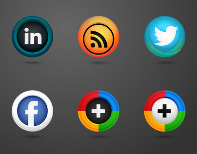 Social Media Vector Shield Icons